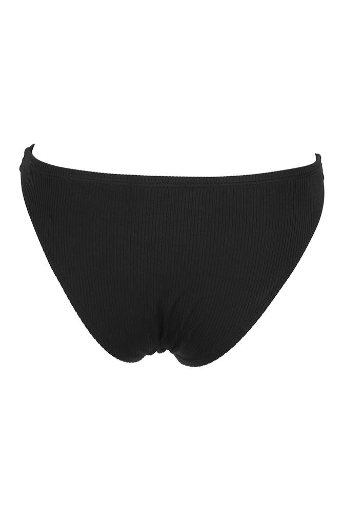 43674b73c17ae California Waves Juniors Black Ribbed Bikini Bottom L 190608433482 ...