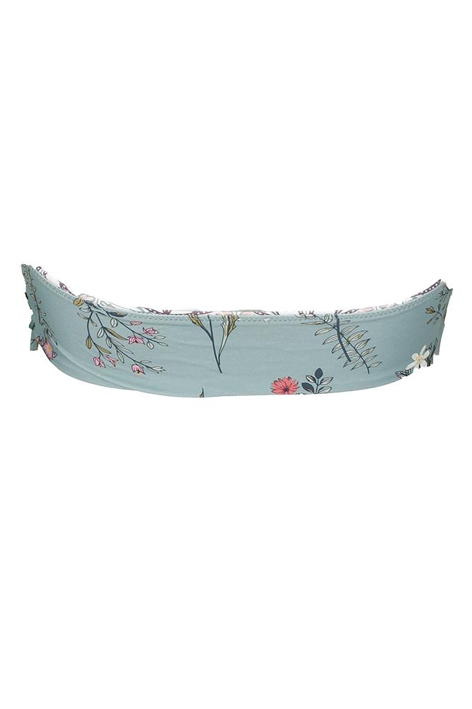 519315f5b82ef Oneill Green White Floral Print Piper Reversible Strapless Bandeau Bikini  Top XL