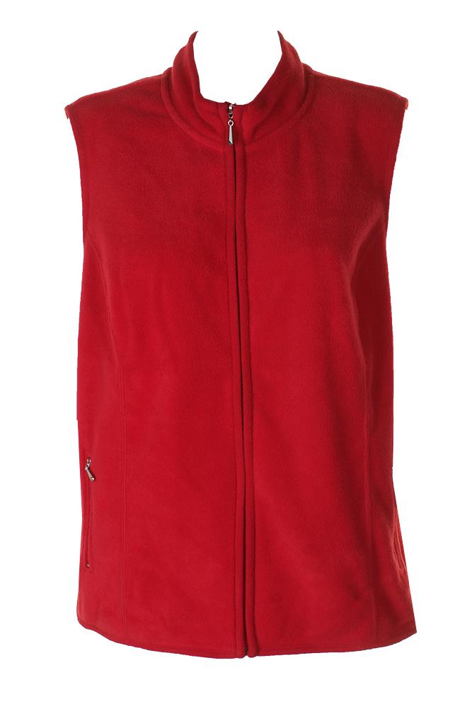 2cfb2eb711291 Karen Scott Plus Size Red Sleeveless Fleece Mock Neck Zip Up Vest 0X MSRP   42.5