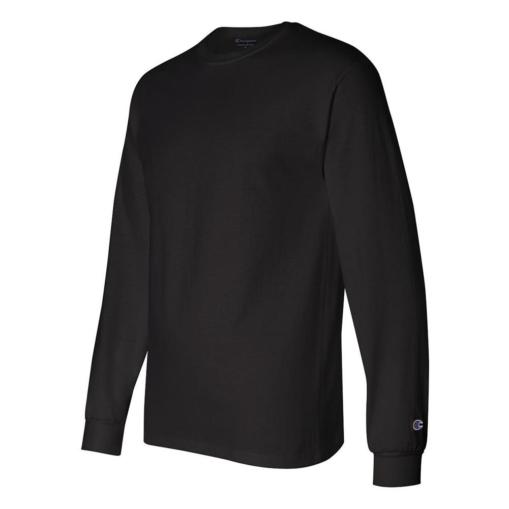 Champion-Men-039-s-CC8C-Long-Sleeve-Tagless-Cotton-Gym-Workout-T-Shirt thumbnail 4