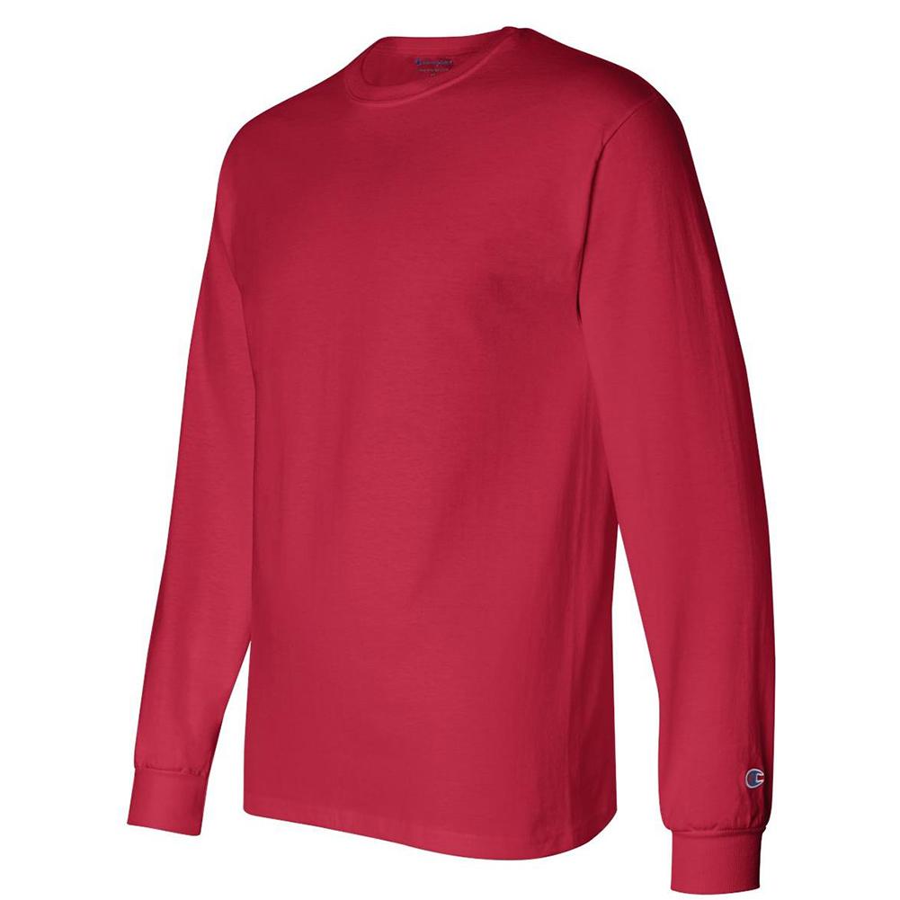 Champion-Men-039-s-CC8C-Long-Sleeve-Tagless-Cotton-Gym-Workout-T-Shirt thumbnail 13