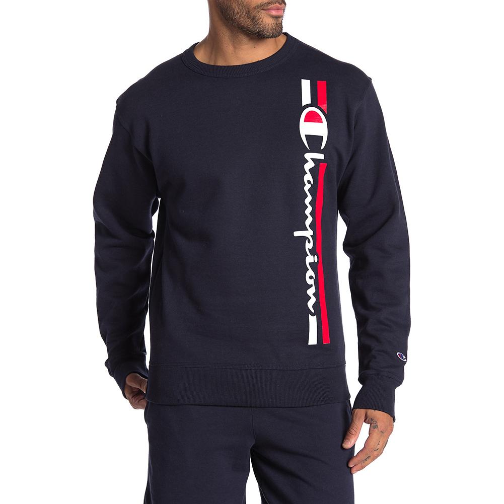 Champion-Men-039-s-GF88H-Y07973-Powerblend-Fleece-Vertical-Script-Logo-Sweatshirt thumbnail 6