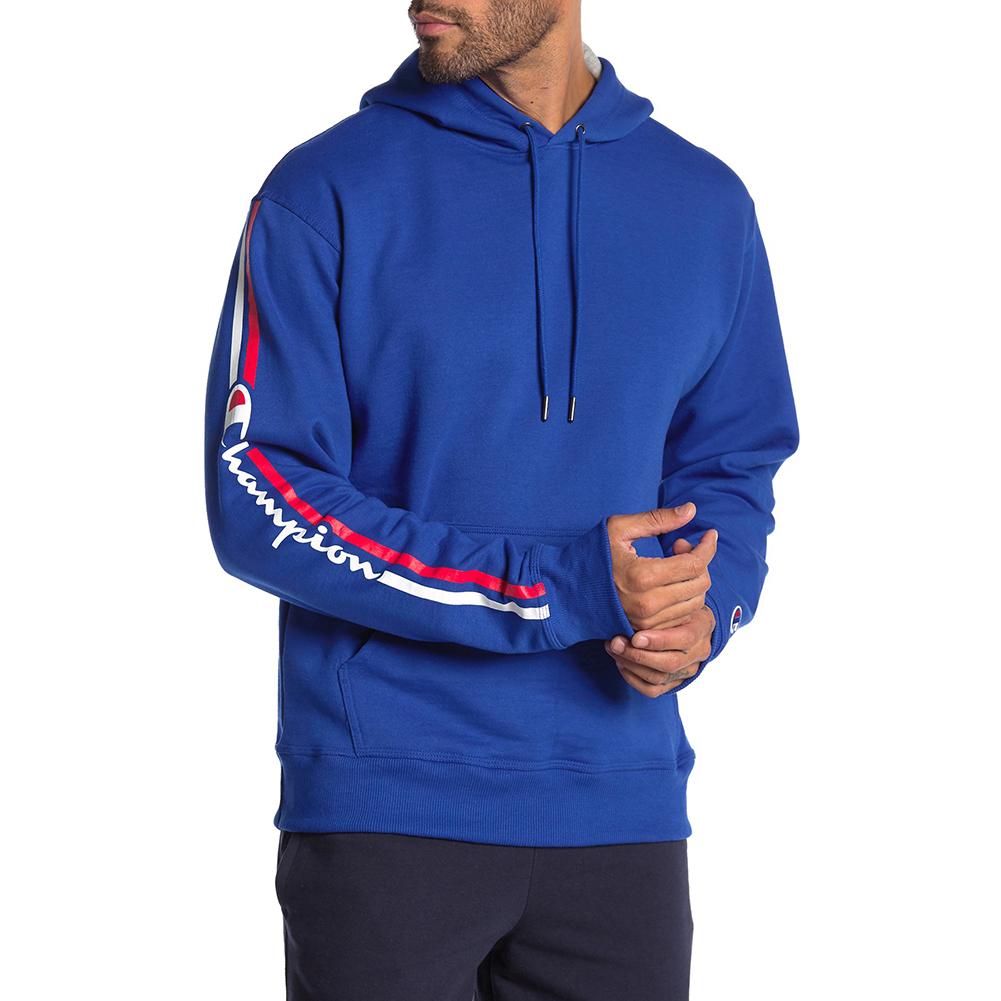Champion-Men-039-s-GF89H-Y07975-PowerBlend-Fleece-Vertical-Logo-Pullover-Hoodie-XL thumbnail 6