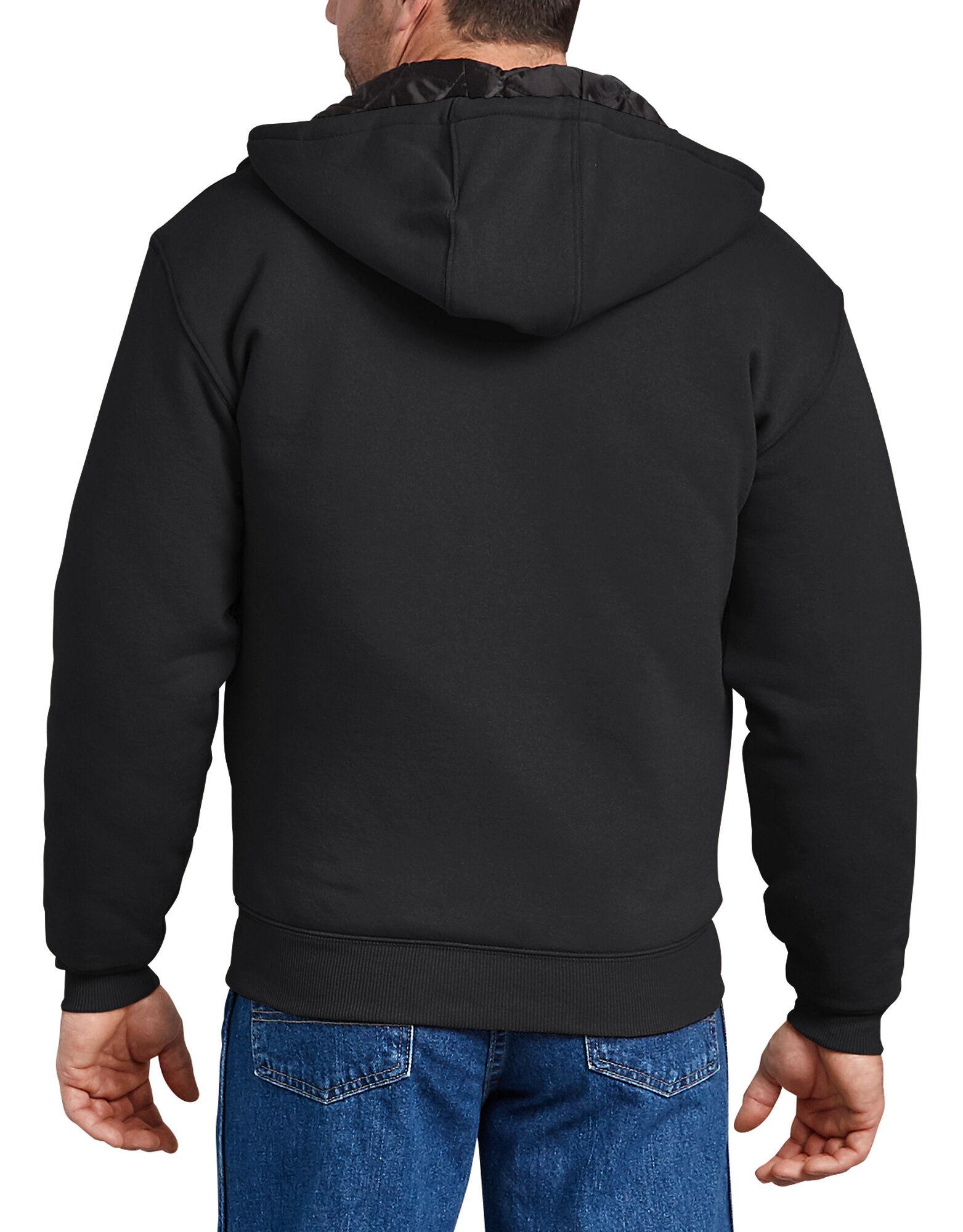 Dickies-Men-039-s-TW394-Heavyweight-Quilted-Fleece-Zip-Up-Hoodie thumbnail 3