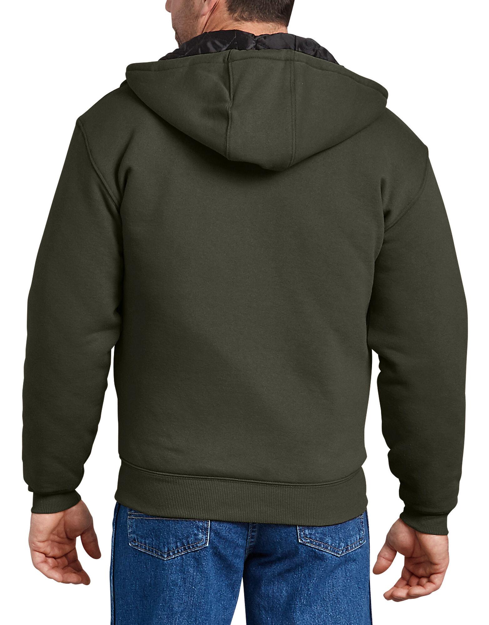 Dickies-Men-039-s-TW394-Heavyweight-Quilted-Fleece-Zip-Up-Hoodie thumbnail 5