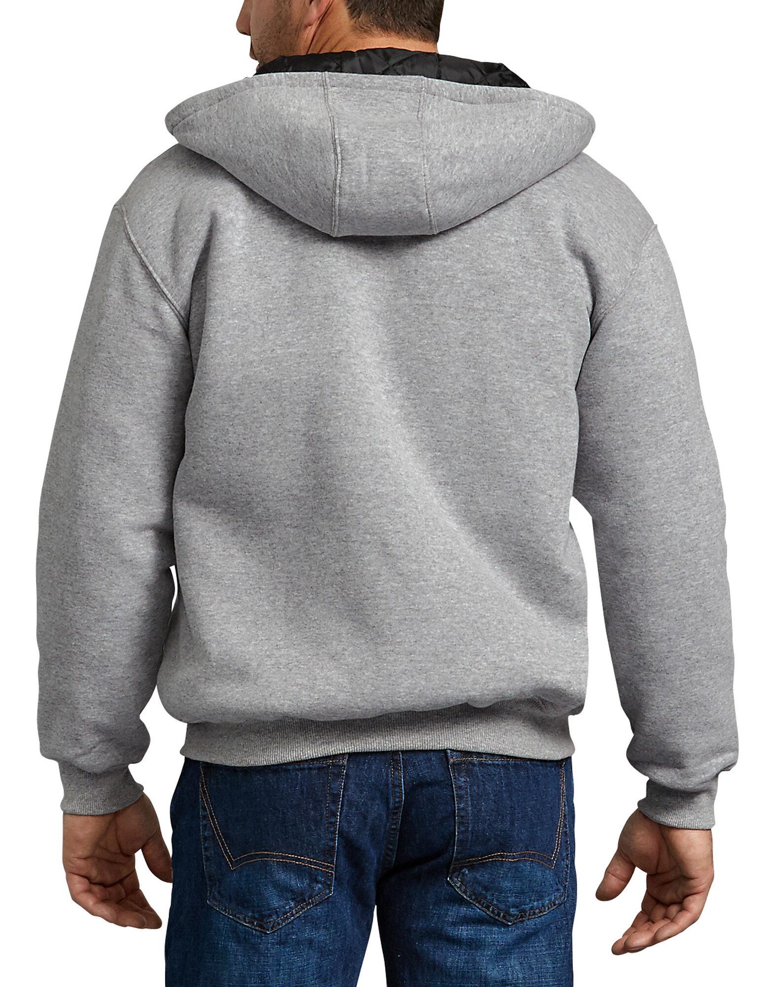 Dickies-Men-039-s-TW394-Heavyweight-Quilted-Fleece-Zip-Up-Hoodie thumbnail 7
