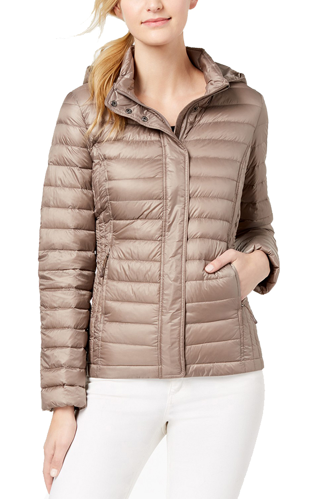 06c1d14ec8b80 Details about 32 Degrees Taupe Ultra Light Down Hooded Packable Puffer Coat  S MSRP   100