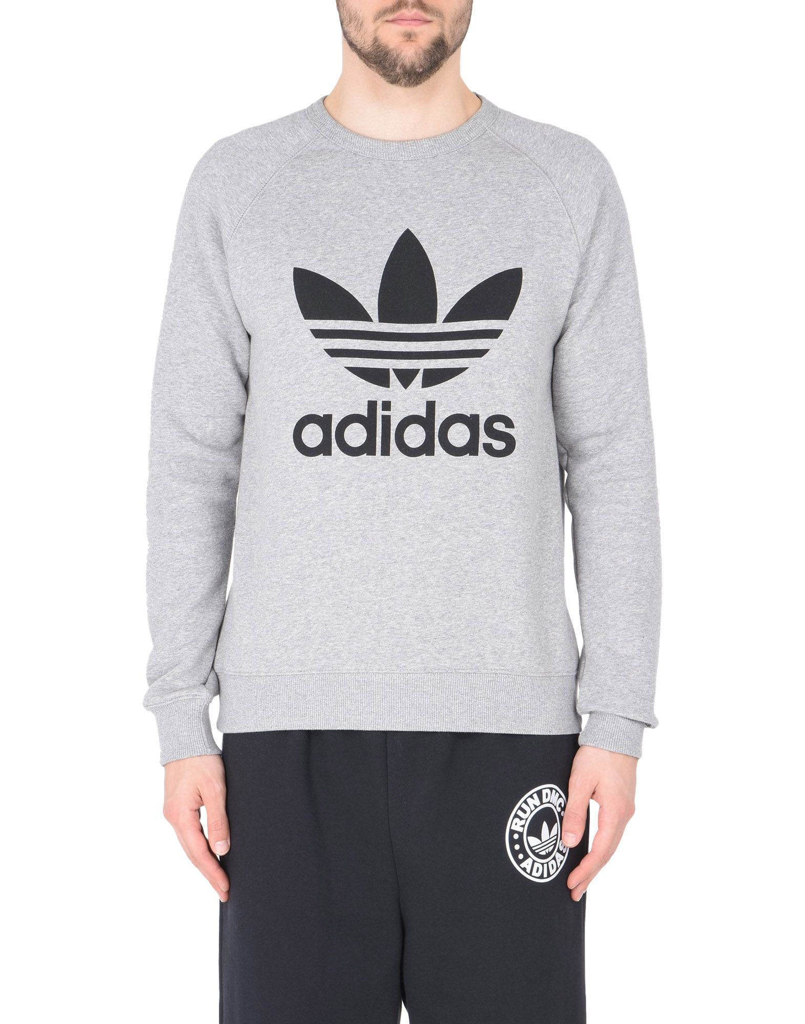 Adidas-Men-039-s-Trefoil-Logo-Graphic-Raglan-Sleeve-Sweatshirt thumbnail 6