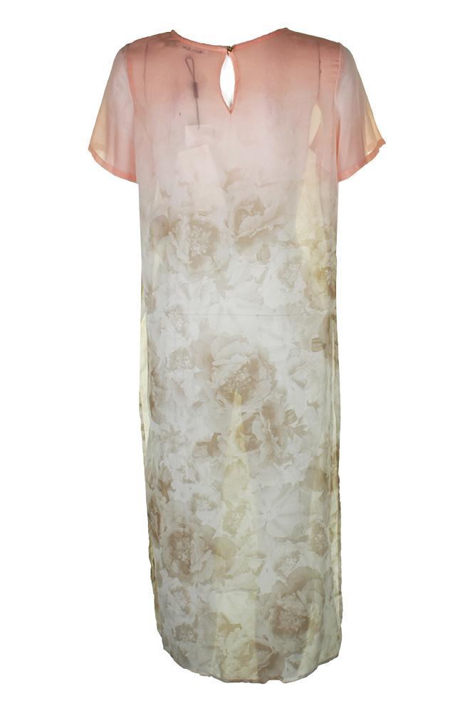 8bf03ec0d59 Calvin Klein Late Pink Short-Sleeve Multi Print Maxi Tunic M ...