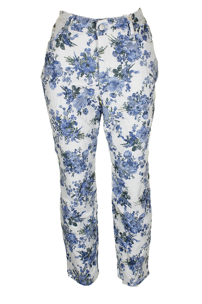 081b490c13368 Details about Charter Club Plus Size Blue Air Combo Floral Print Skinny-Leg Ankle  Jeans 24W