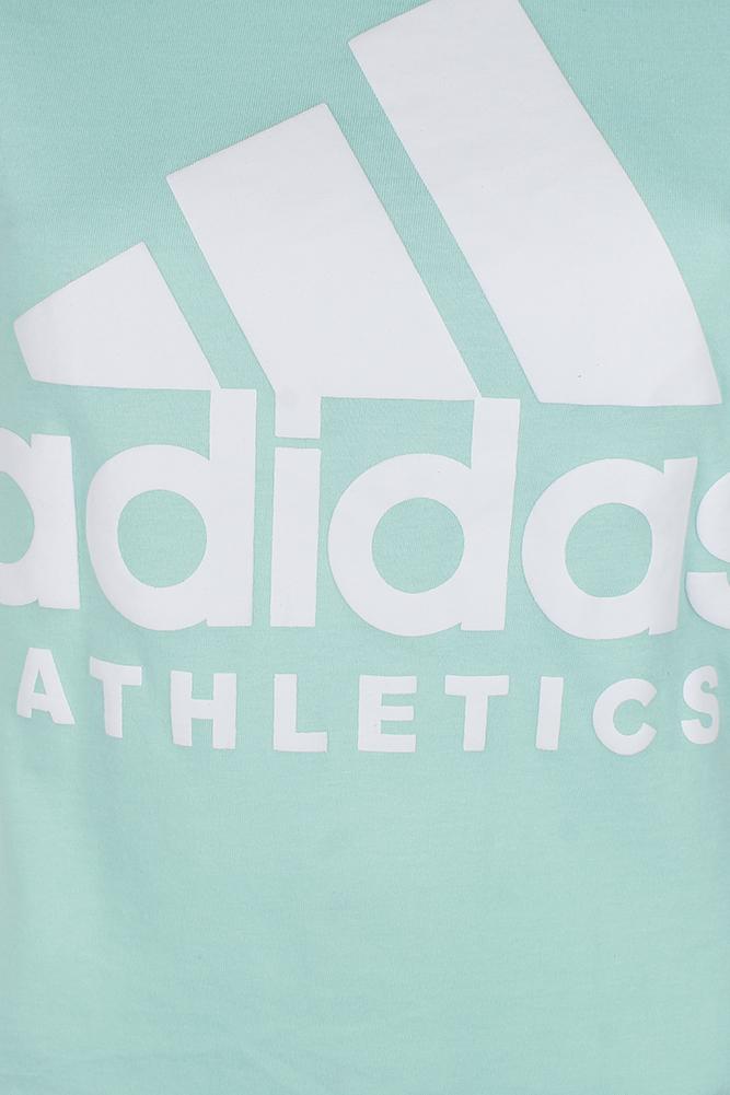 Adidas-Ladies-Short-Sleeve-Classic-Logo-Graphic-Essential-T-Shirt thumbnail 4
