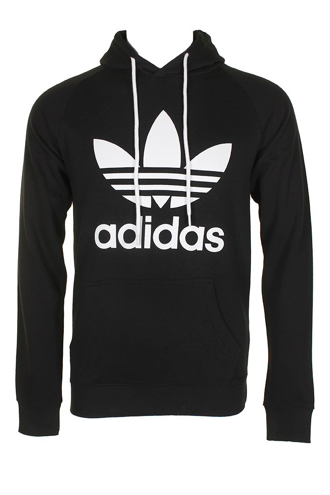Adidas-Men-039-s-Trefoil-Logo-Graphic-Pouch-Pocket-Pullover-Hoodie thumbnail 2