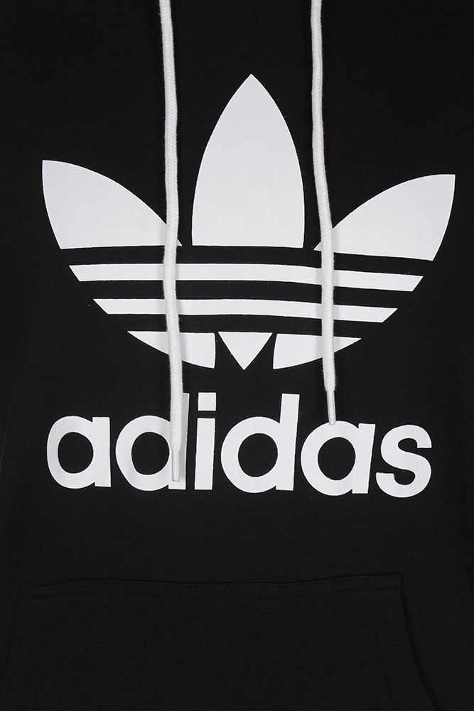 Adidas-Men-039-s-Trefoil-Logo-Graphic-Pouch-Pocket-Pullover-Hoodie thumbnail 6