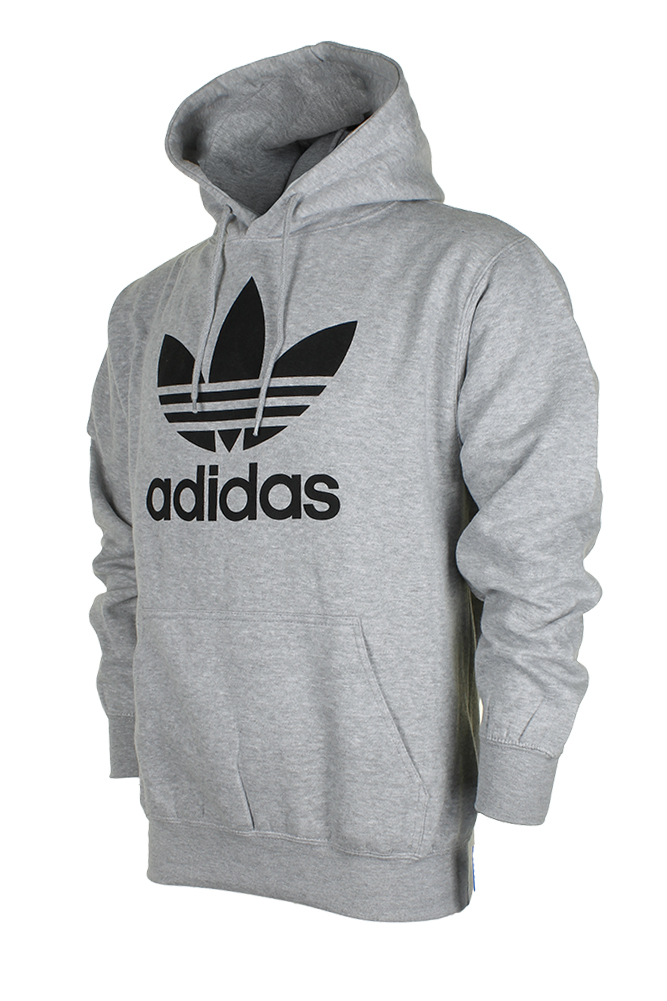 Adidas-Men-039-s-Trefoil-Logo-Graphic-Pouch-Pocket-Pullover-Hoodie thumbnail 5