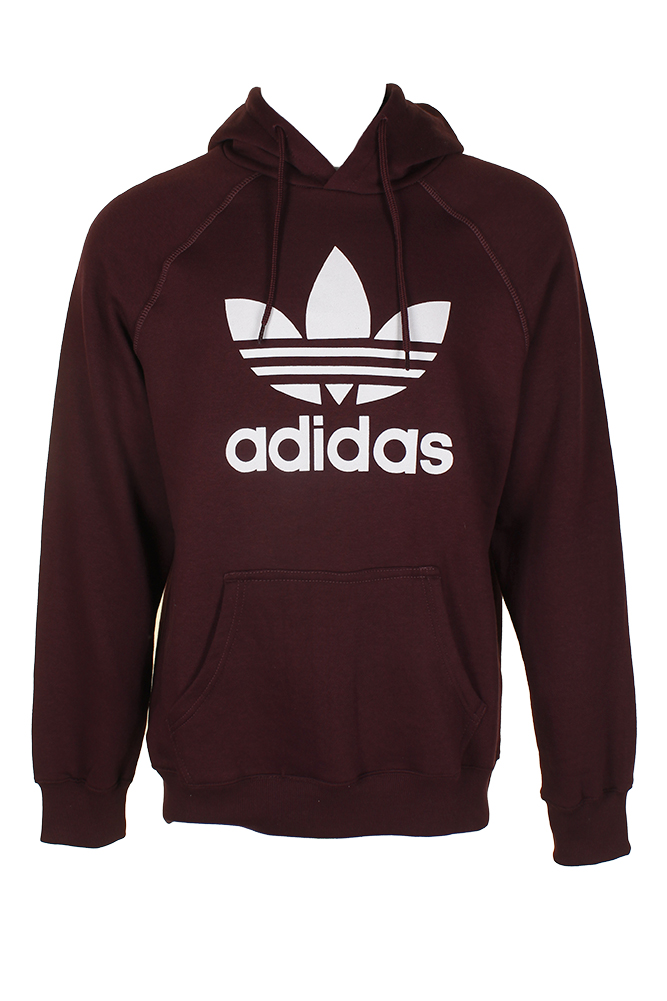 Adidas-Men-039-s-Trefoil-Logo-Graphic-Pouch-Pocket-Pullover-Hoodie thumbnail 8
