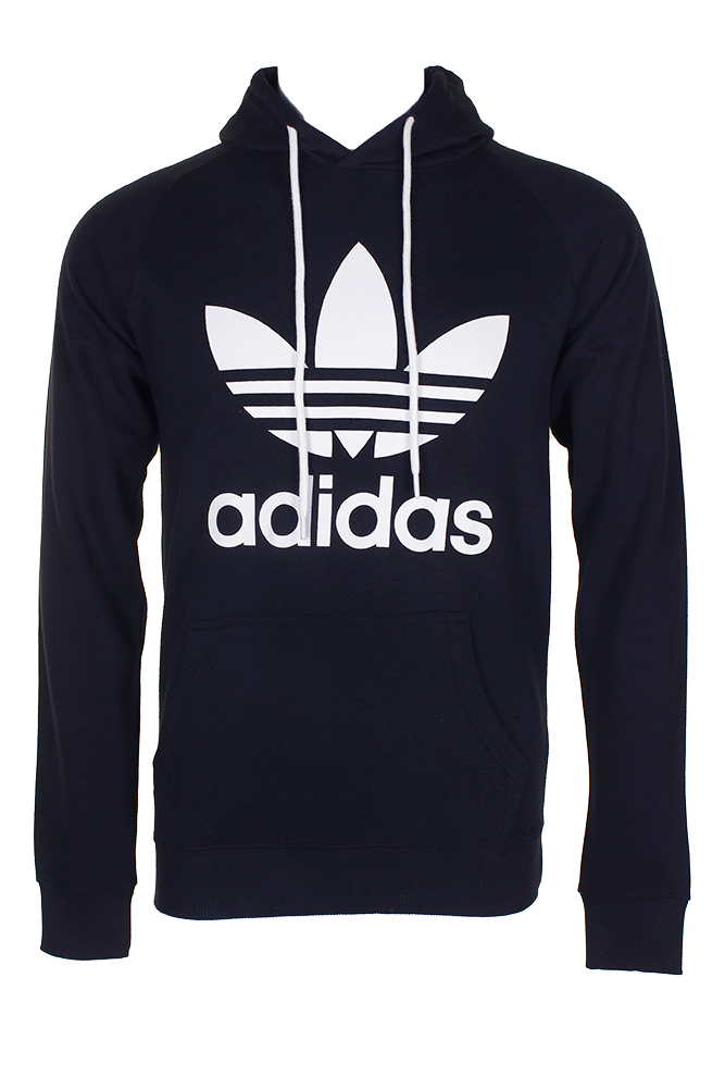 Adidas-Men-039-s-Trefoil-Logo-Graphic-Pouch-Pocket-Pullover-Hoodie thumbnail 14