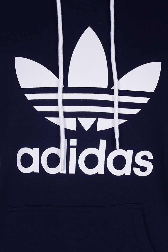 Adidas-Men-039-s-Trefoil-Logo-Graphic-Pouch-Pocket-Pullover-Hoodie thumbnail 18