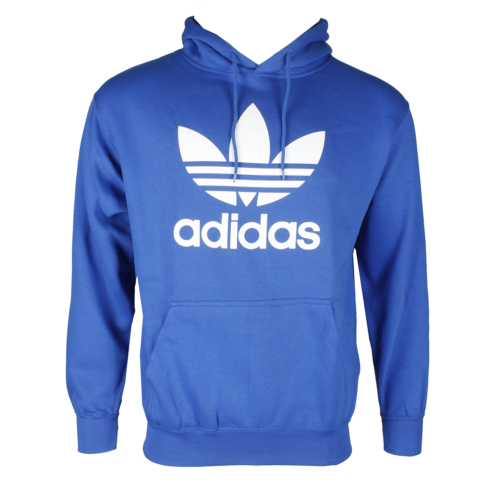 Adidas-Men-039-s-Trefoil-Logo-Graphic-Pouch-Pocket-Pullover-Hoodie thumbnail 17