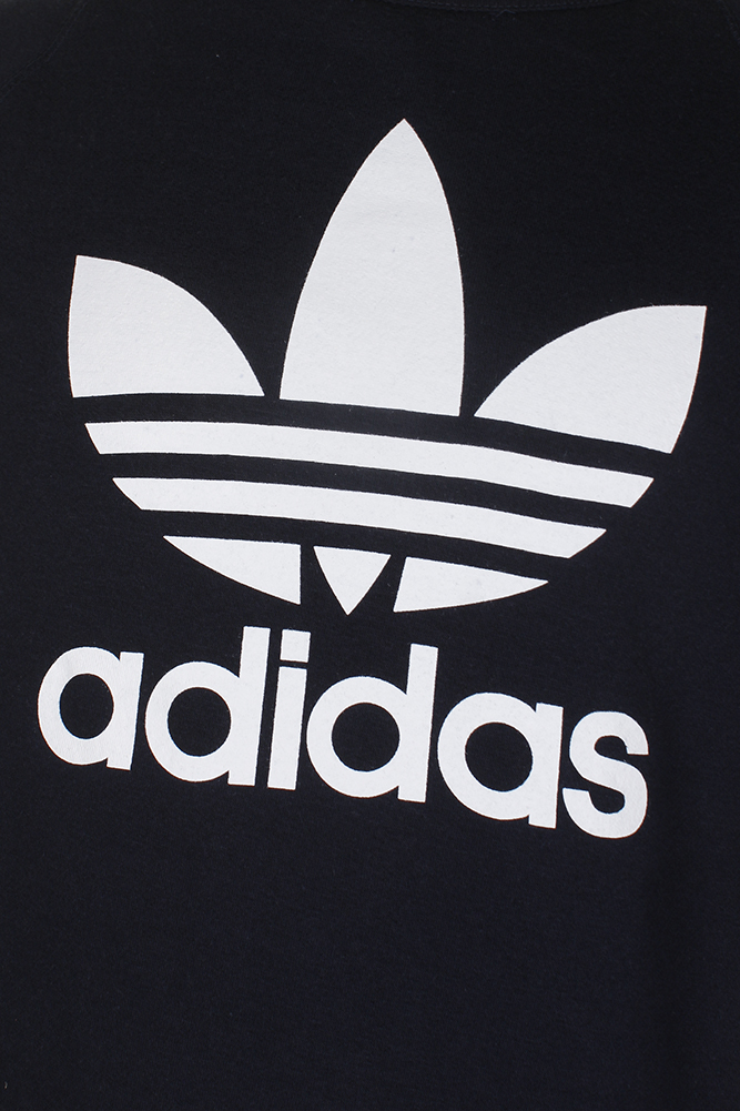 Adidas-Men-039-s-Trefoil-Logo-Graphic-Raglan-Sleeve-Sweatshirt thumbnail 4