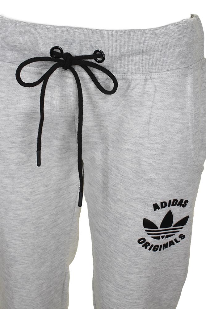 Adidas-Ladies-Classic-Logo-Graphic-Drawstring-Jogger-Pants thumbnail 4