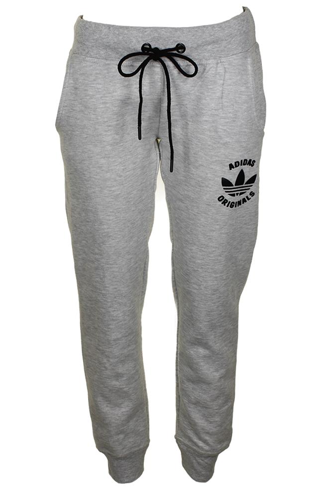 Adidas Ladies Classic Logo Graphic Drawstring Jogger Pants