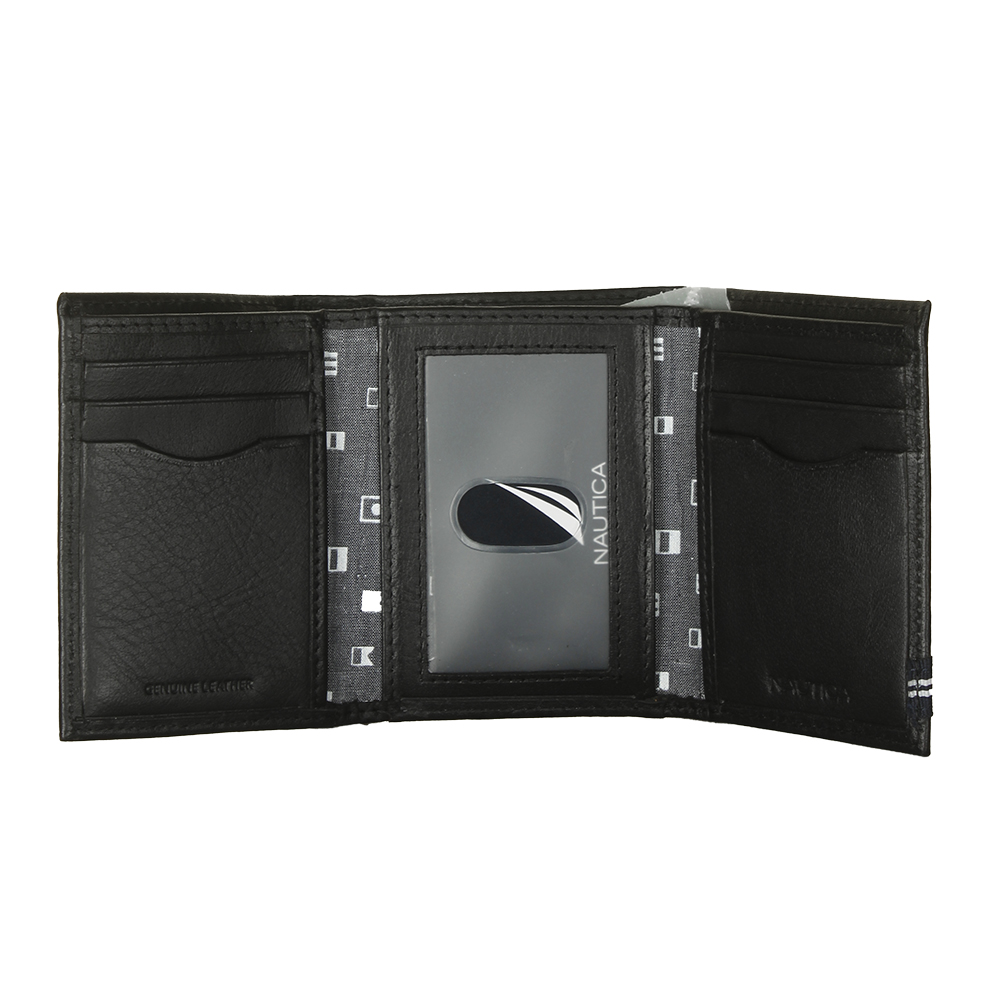Nautica-Men-039-s-31NU110011-Leather-Credit-Card-ID-Window-Trifold-Wallet thumbnail 3