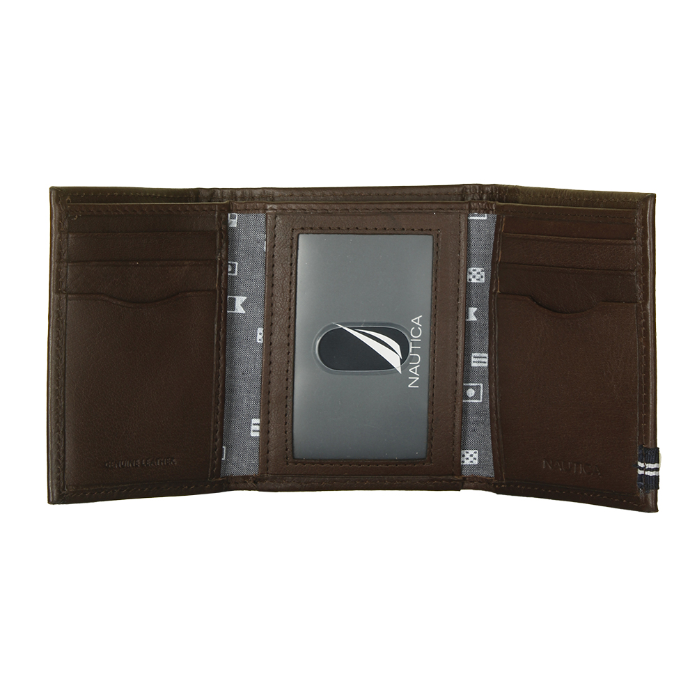 Nautica-Men-039-s-31NU110011-Leather-Credit-Card-ID-Window-Trifold-Wallet thumbnail 6