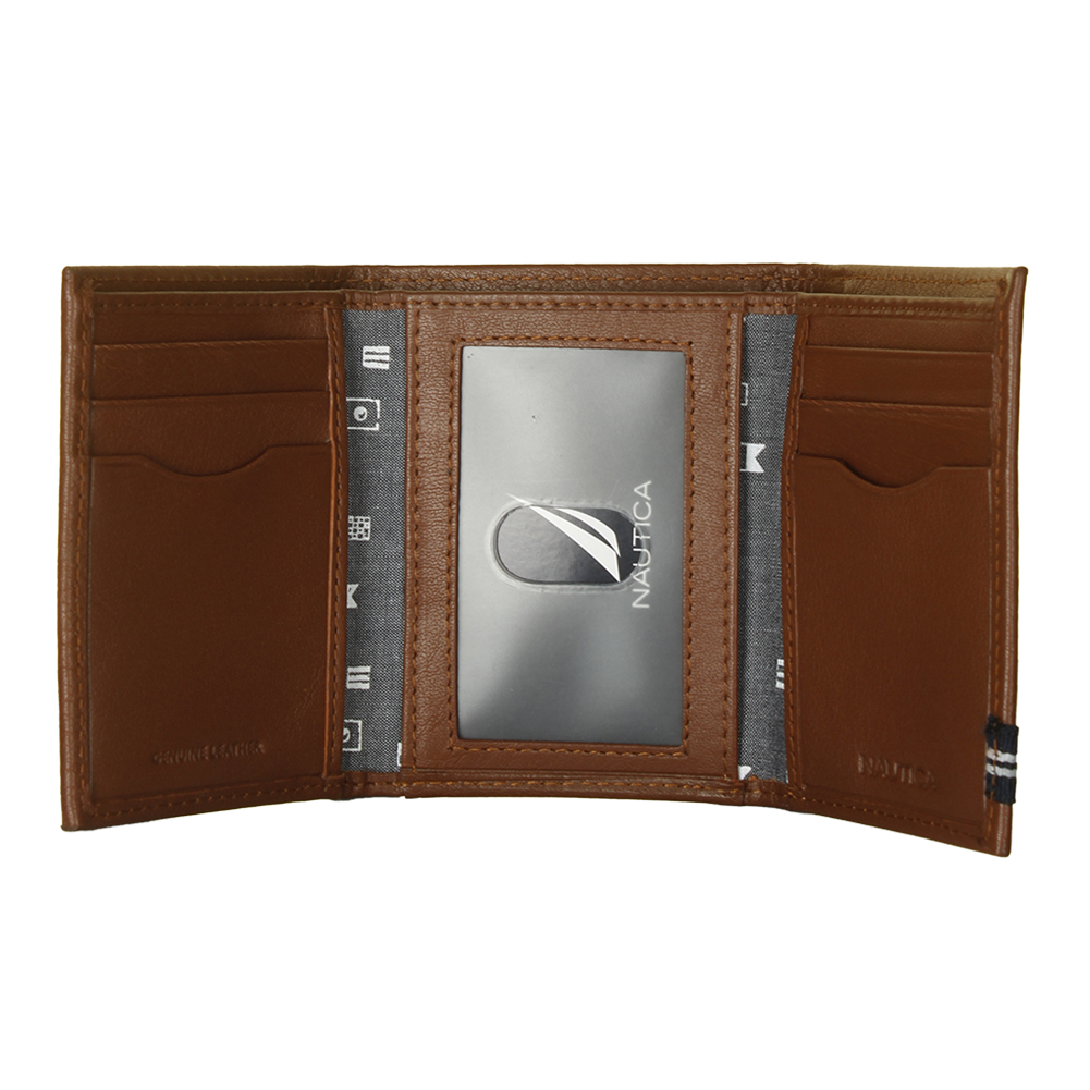 Nautica-Men-039-s-31NU110011-Leather-Credit-Card-ID-Window-Trifold-Wallet thumbnail 9
