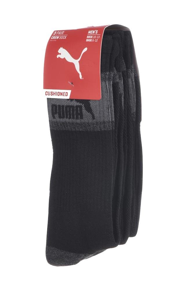 Puma-Men-039-s-3-Pack-1-2-Terry-Crew-Socks thumbnail 3