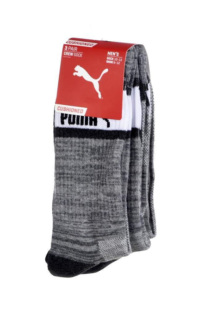 Puma-Men-039-s-3-Pack-1-2-Terry-Crew-Socks thumbnail 7