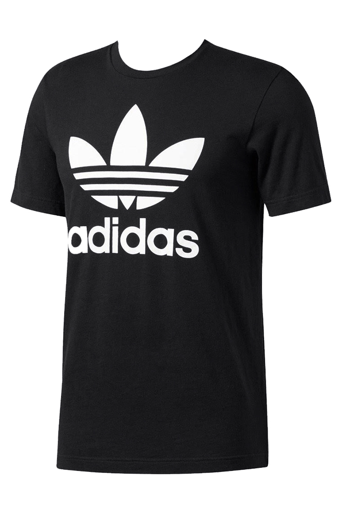 Adidas-Men-039-s-Short-Sleeve-Trefoil-Logo-Graphic-T-Shirt thumbnail 3