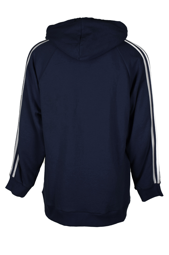 Adidas-Men-039-s-Trefoil-Logo-3-Stripe-Front-Pocket-Full-Zip-Hoodie thumbnail 9