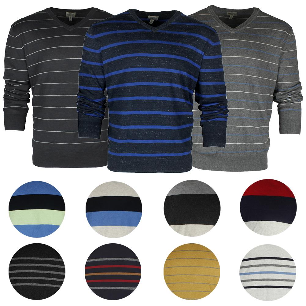 St John/'s Bay Men/'s Long Sleeve V Neck Solid Cotton Pullover Sweater