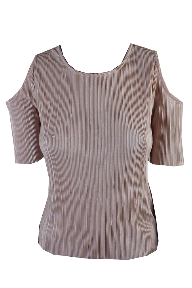 f0c47414 Bar Iii Blush Cold-Shoulder Pleated Top XS MSRP: $49.5 757538612143 ...