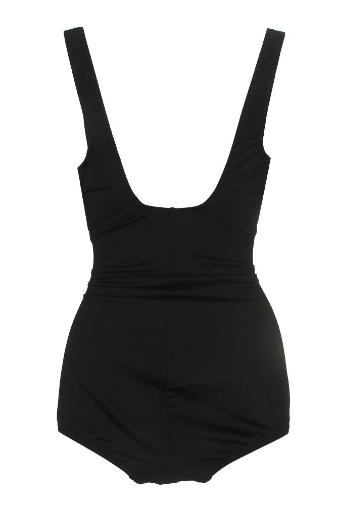 16a6dbd866 Reebok Black Multi Color Blocked Radiant Energy Printed Tummy-Cotrol  Swimsuit 14