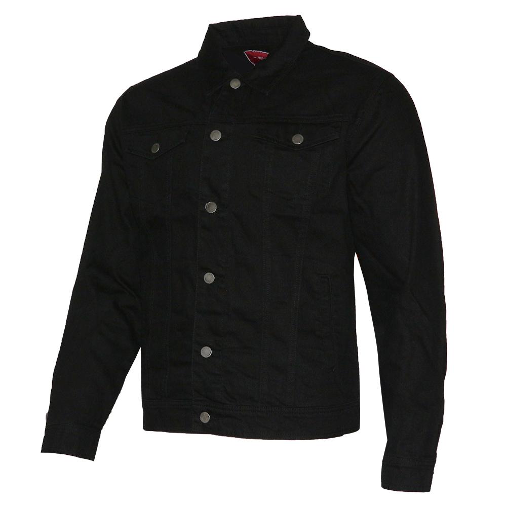 thumbnail 3 - Mens Denim Jean Jacket Faded Premium Cotton Button Up Slim Fit  Red Label