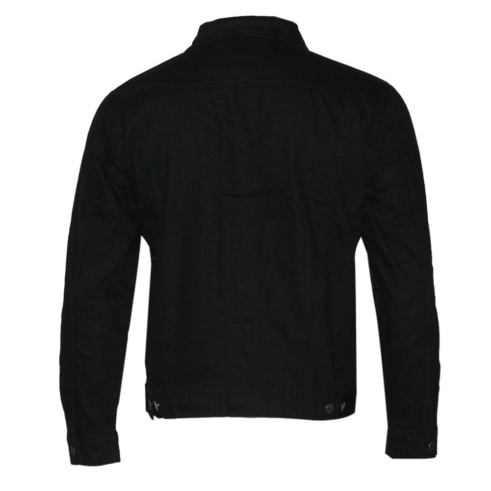 thumbnail 4 - Mens Denim Jean Jacket Faded Premium Cotton Button Up Slim Fit  Red Label