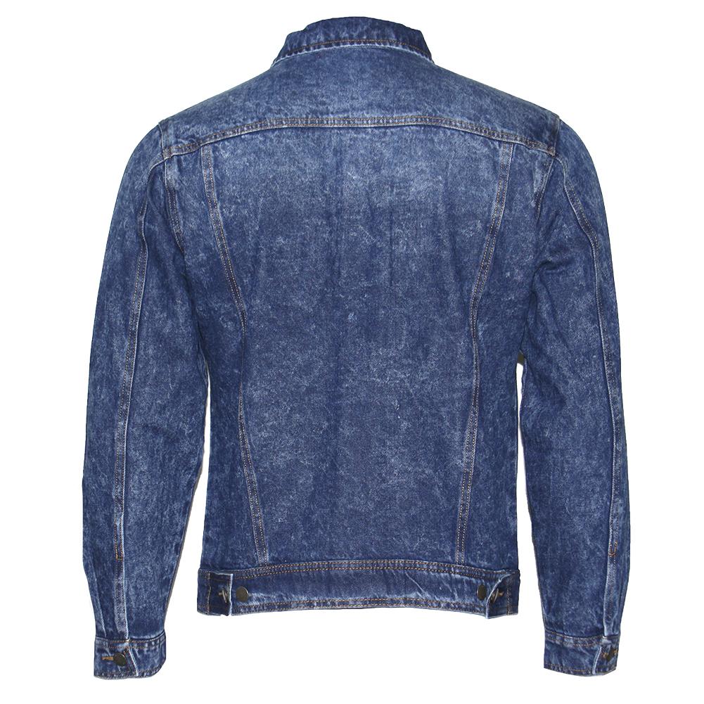 thumbnail 9 - Mens Denim Jean Jacket Faded Premium Cotton Button Up Slim Fit  Red Label