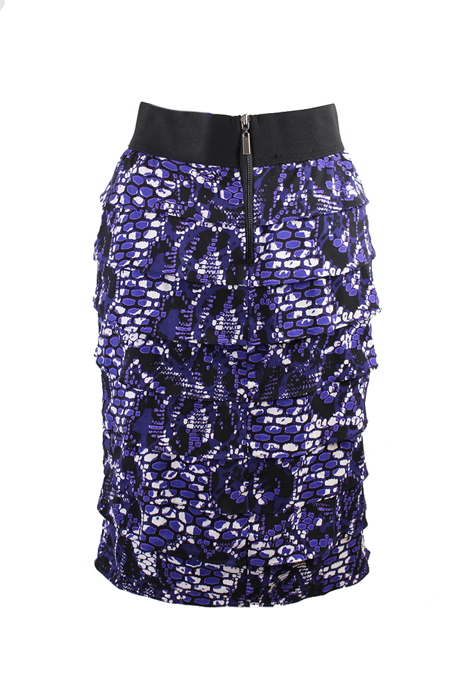 712043a046f Alfani Purple Printed Tiered Pencil Skirt 4 806809574229