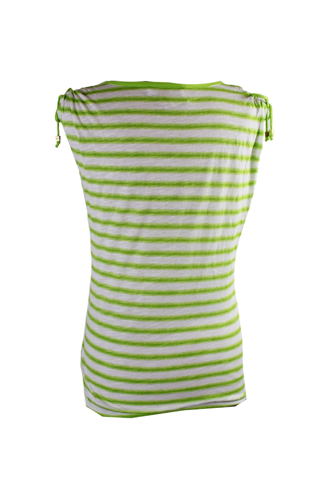 a8e694db379ee Michael Michael Kors Lime Striped Cold-Shoulder Top M 190049554456 ...