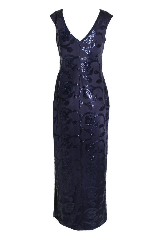 Lauren Ralph Lauren Sequined Floral-Print Gown 8 888572870777 | eBay