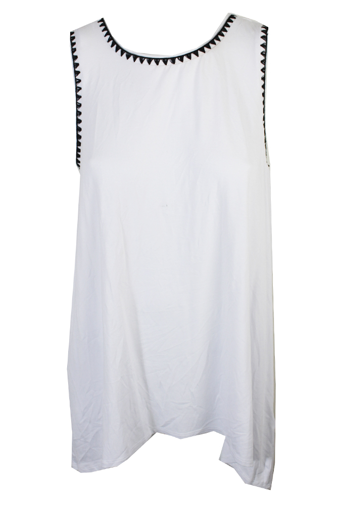 Vince Camuto Ultra White High-Low Sleeveless Top M  MSRP: $79