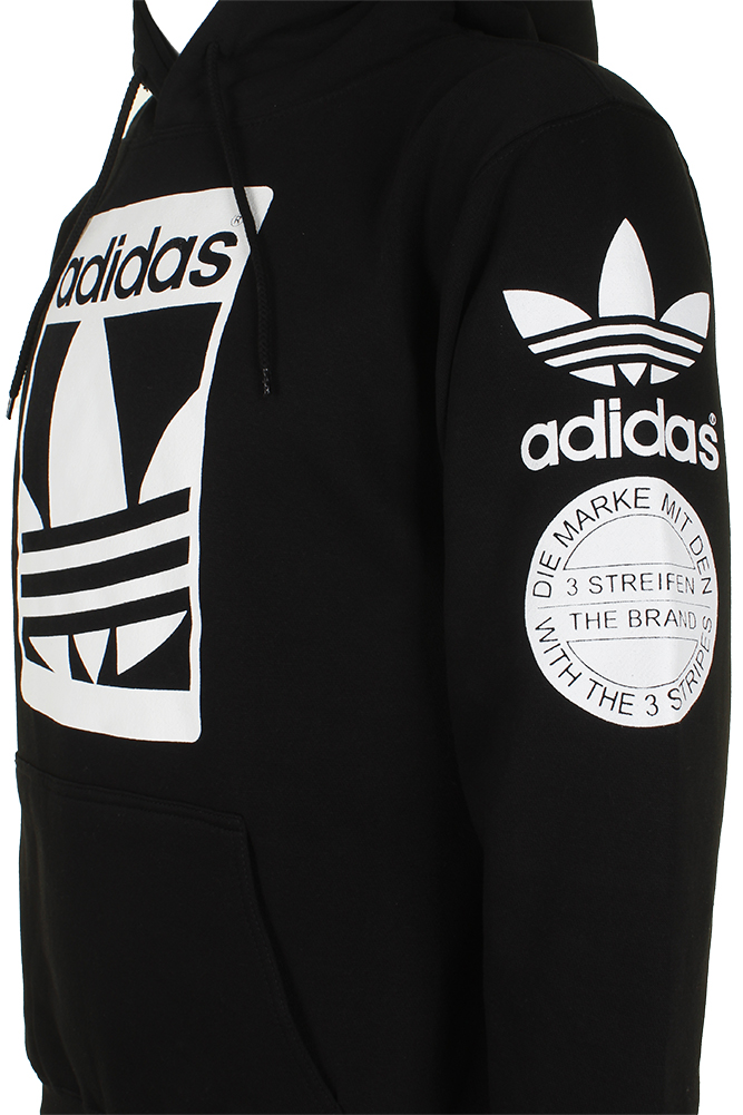 Adidas-Men-039-s-Original-Trefoil-Street-Graphic-Front-Pocket-Active-Pullover-Hoodie thumbnail 4