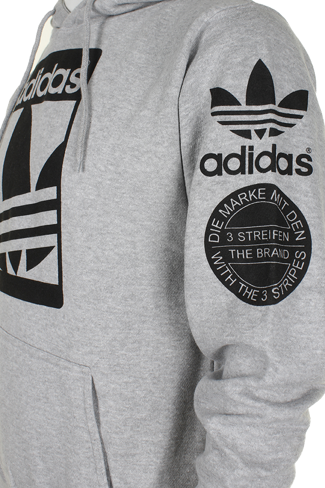 Adidas-Men-039-s-Original-Trefoil-Street-Graphic-Front-Pocket-Active-Pullover-Hoodie thumbnail 7