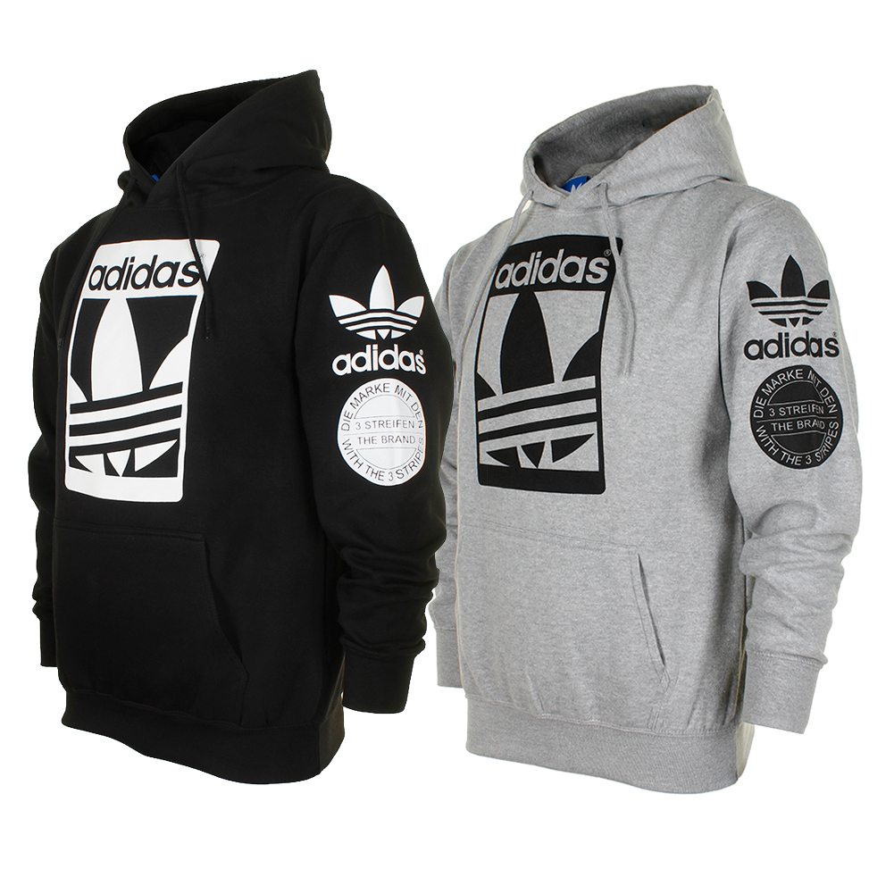 Details about Adidas Men's Original Trefoil Street Graphic Front Pocket Hoodie
