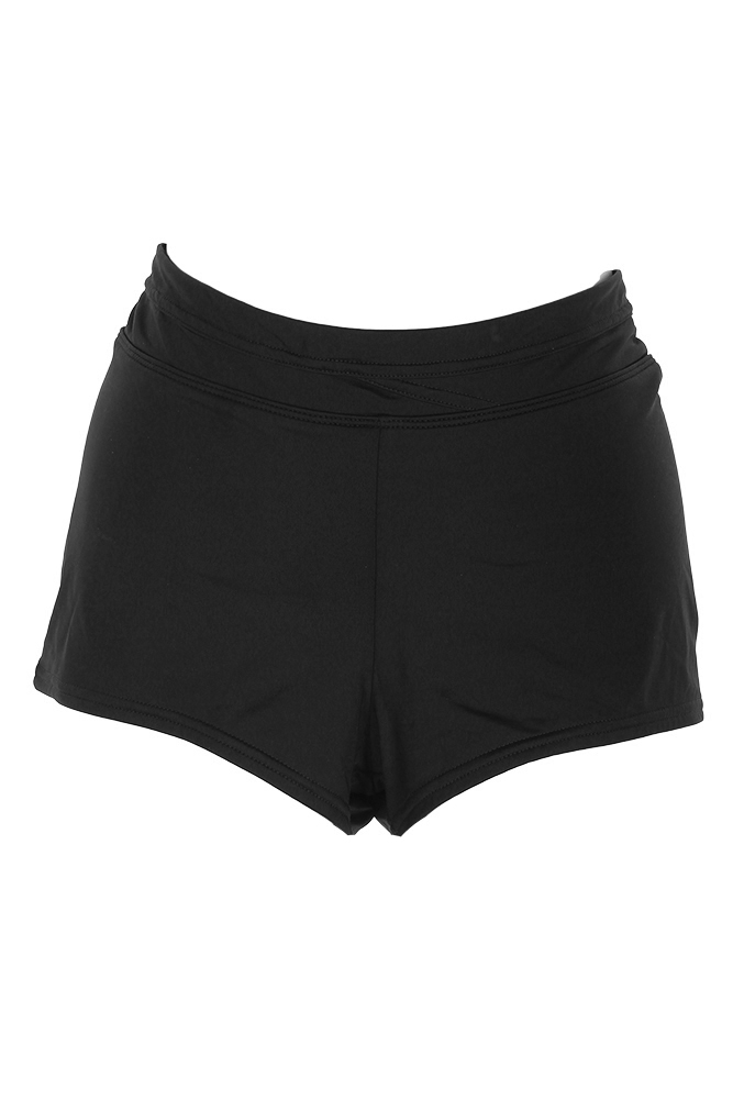 17050ba8788d Jag Black Solid Boyshort Swim Bottom M 757538667921 | eBay