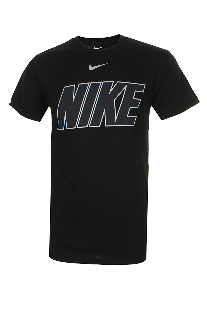 Nike-Men-039-s-Athletic-Wear-Short-Sleeve-Logo-Graphic-Crew-Neck-Active-T-Shirt thumbnail 2