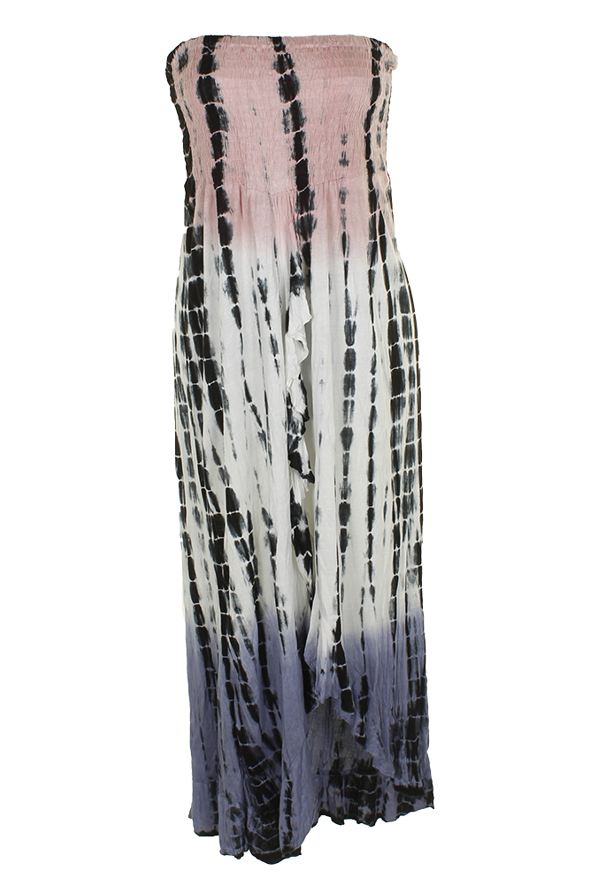 52fbc94c83 Raviya Blush Black Tie-Dyed Waterfall-Hem Tube Dress Cover-Up XL