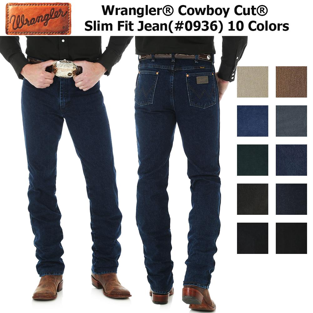 16d0161f778 Wrangler Men's 0936 Cowboy Cut Slim Fit Jeans
