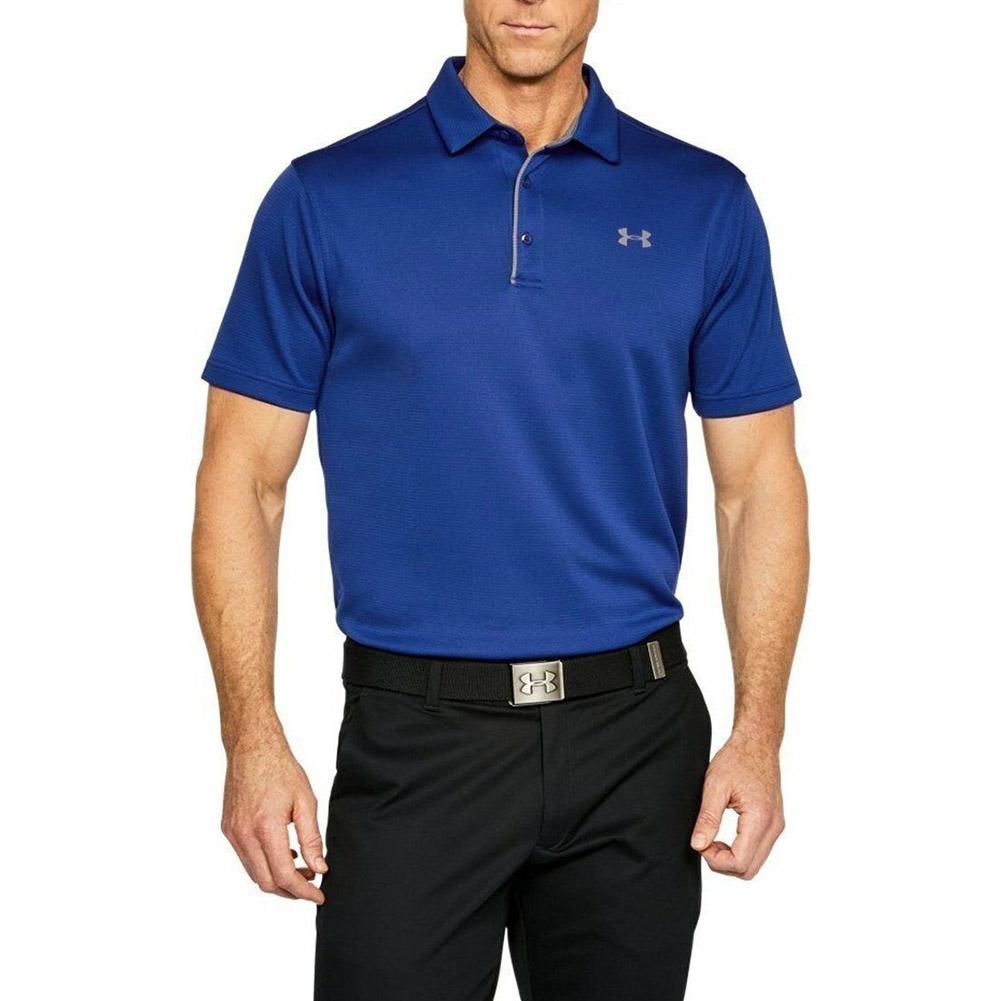 thumbnail 9 - Under Armour Men's UA Tech Performance Golf Polo Tee Loose-Fit T-Shirt 1290140